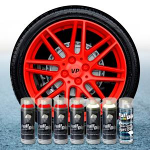 FullDip Wheel Kit - Fluorescent - RED - Gloss