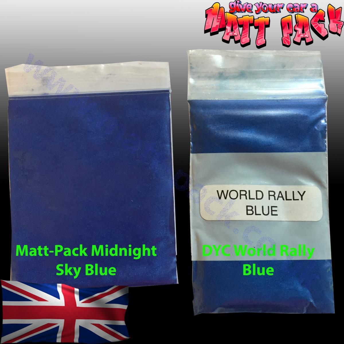 Midnight Sky Blue Pearl Pigment From Matt Pack