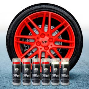 FullDip Wheel Kit - Fluorescent - RED - Matte